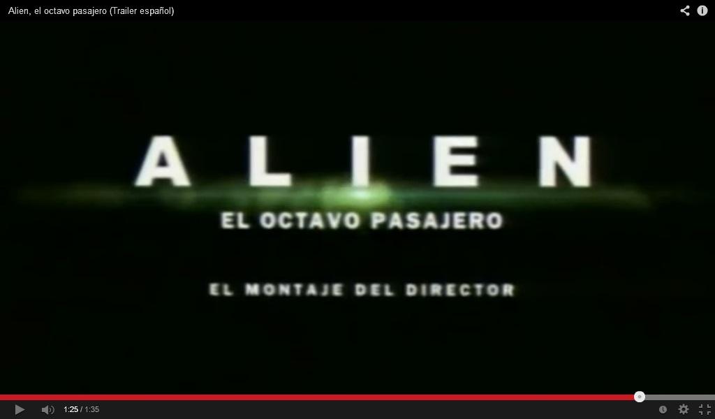 Alien. Imagen: YouTube.com