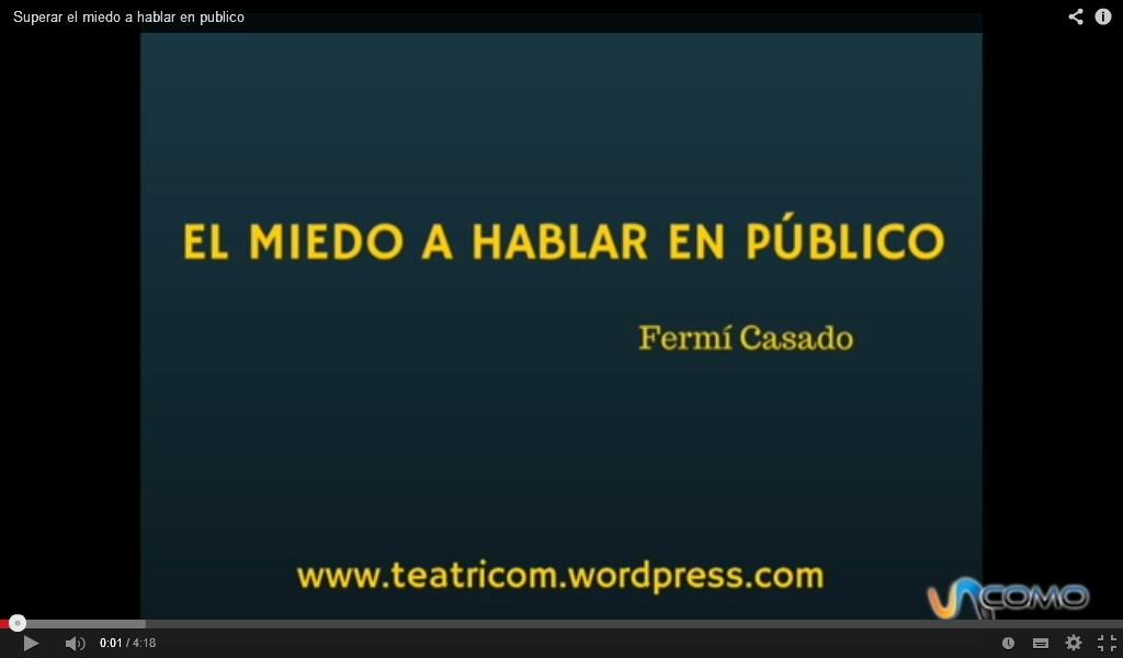 SUPERAR EL MIEDO A HABLAR EN PÚBLICO. Click en la imagen para acceder.