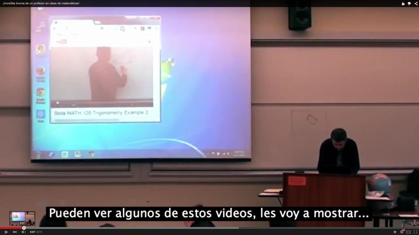 Ejemplo de lo que se puede llegar a hacer en una clase. Imagen: youtube.
