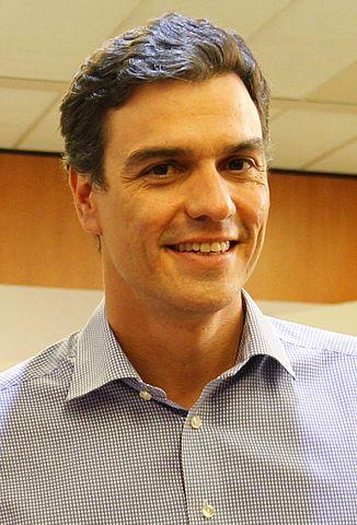 Pedro Sánchez, actual jefe de la oposición. Imágen: Wikipedia.