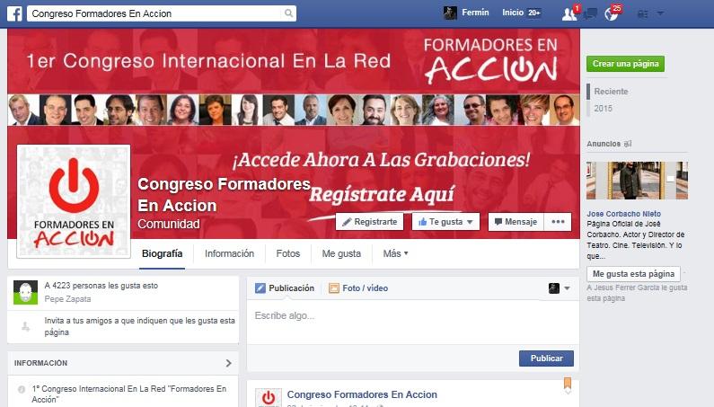 Página de Facebook del congreso. Click en la imagen para acceder.
