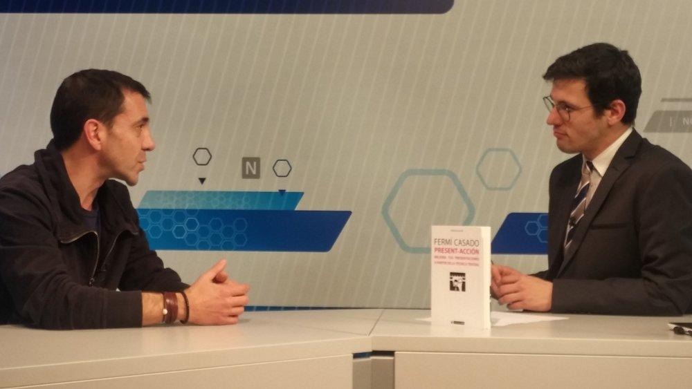 Click en la imagen para ver la entrevista en Girona TV.