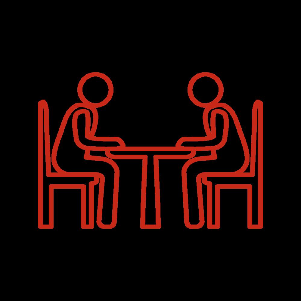reuniones con clientes, proveedores, inversores, accionistas… -