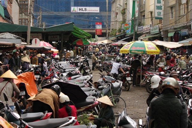 Motorbikes  - everywhere.  Love 'em or hate 'em, they are an integral part of the Vietnamese landscape, both city and country.  Travelling for seven days on a bike through the central highlands was an absolute highlight.