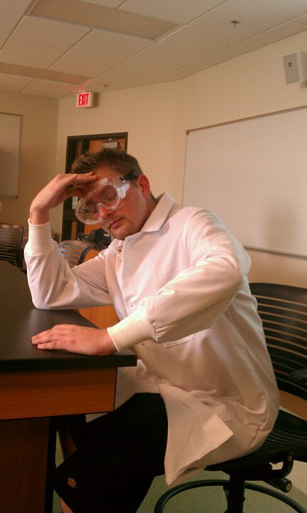 Doing Science is hard. But when The Engin33r says he is in the lab... he really means it.