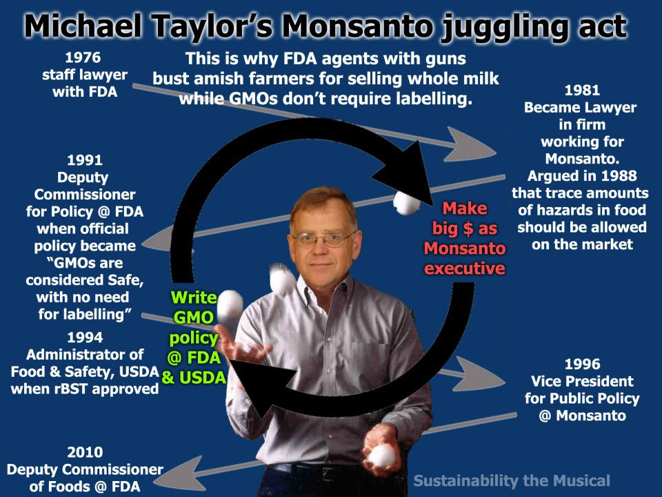 Michael Taylor GMO Monsanto revolving door
