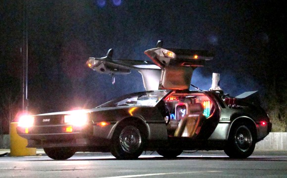 where we're going we don't need roads back to the future delorean time machine