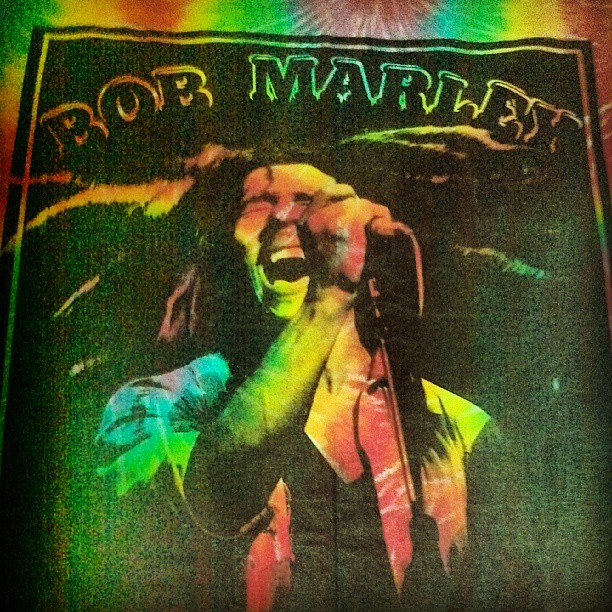 Love this tapestry of #BobMarley, definitely goin up in the studio #postivevibes