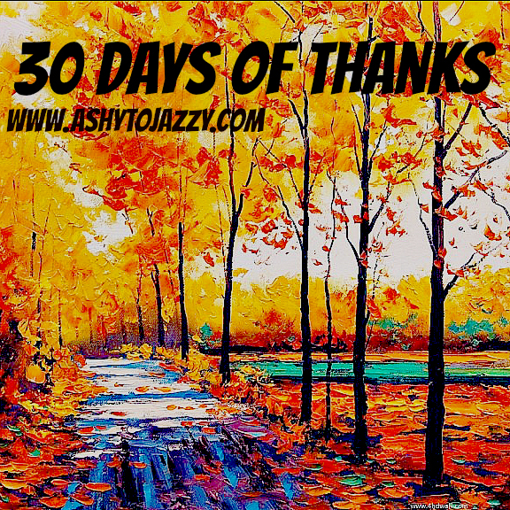 #30Daysofthanks #Thankfulnovember 30 days of thanks ashy to jazzy aToJ