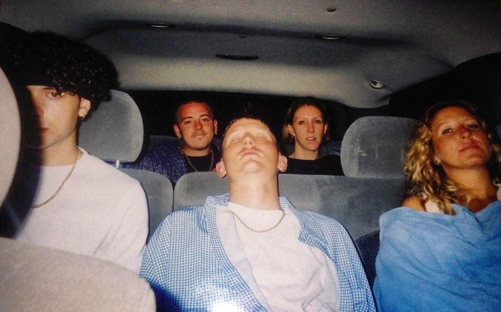 The ride home after the Anger Management Tour concert in Tampa in 2002. I'm not pictured here cause I'm in the driver's seat. I didn't mind having to drive because I got to cruise in my aunt's Escalade.