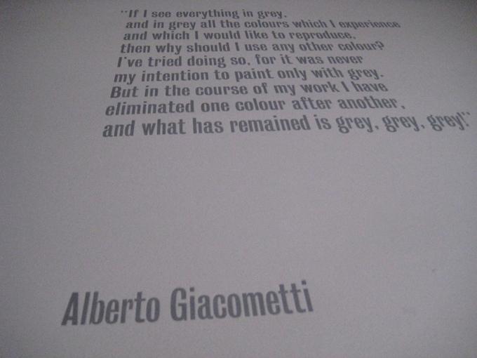 Giacometti quote