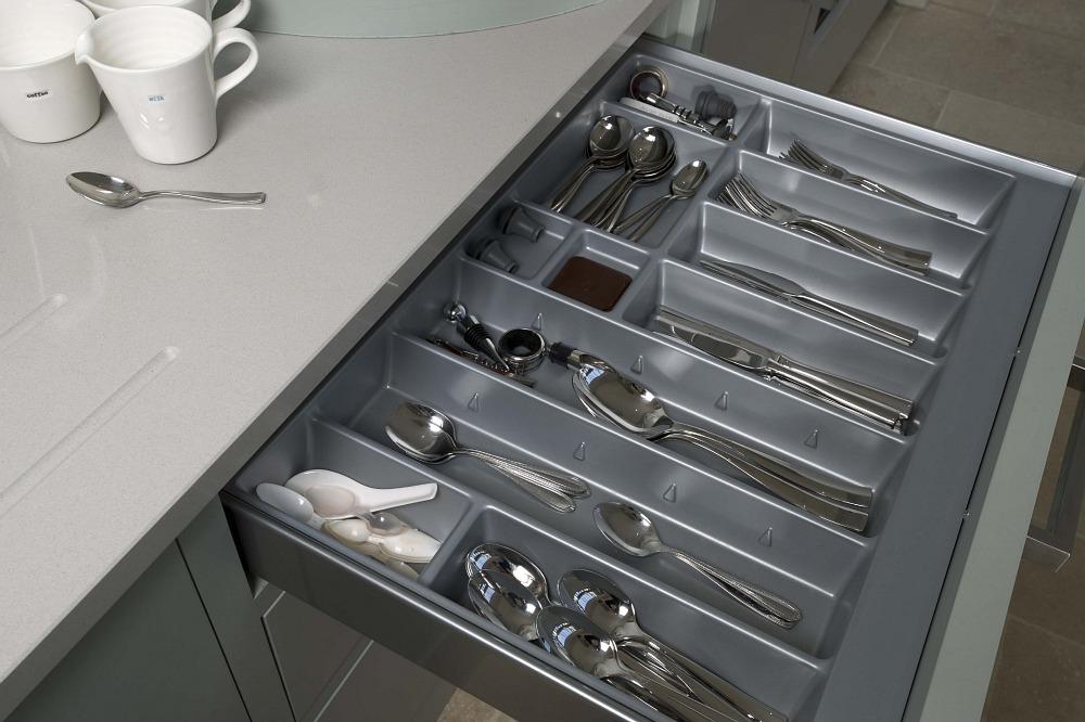 Inox cutlery tray