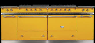 Bright yellow enormous oven