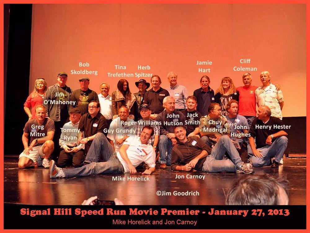 The cast of the Signal Hill Speed Run documentary.