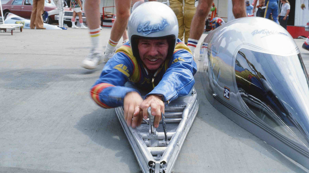 "Roger Williams getting in ""Silverstreak"" 1978."