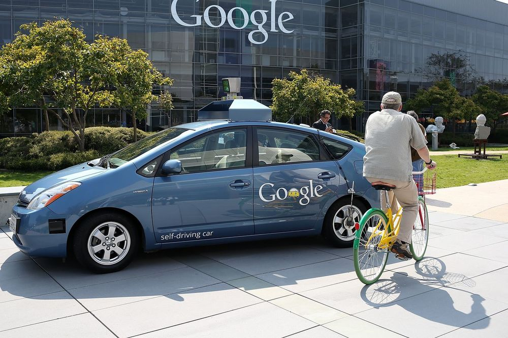A Google self driving Prius