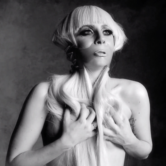 Lady Gaga by Nick Knight featuring Glimm Face Corset by Patrick Ian Hartley