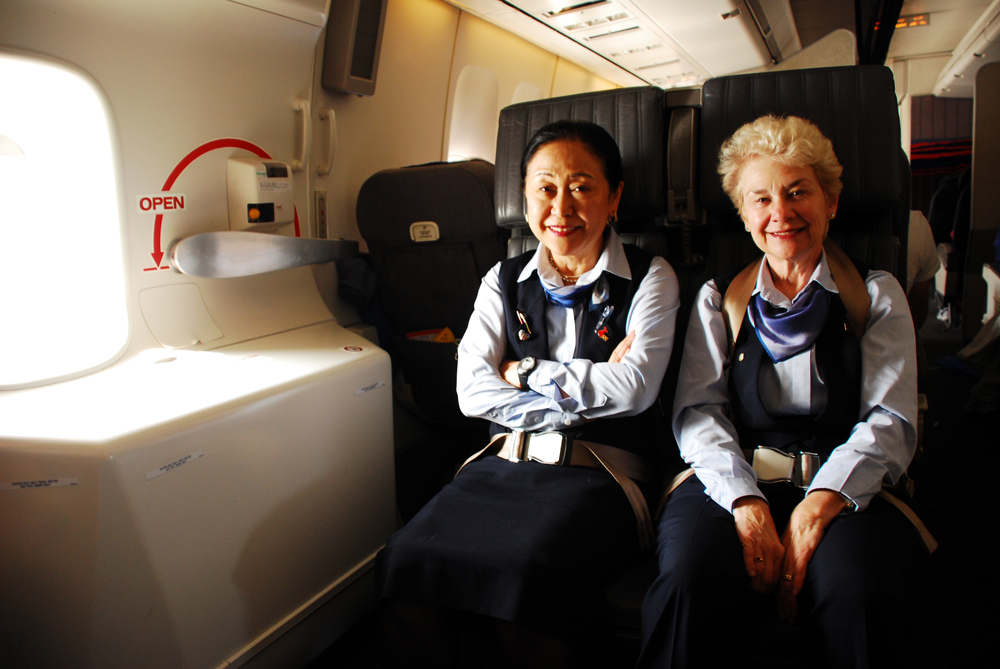 Your flight attendants have a secret language