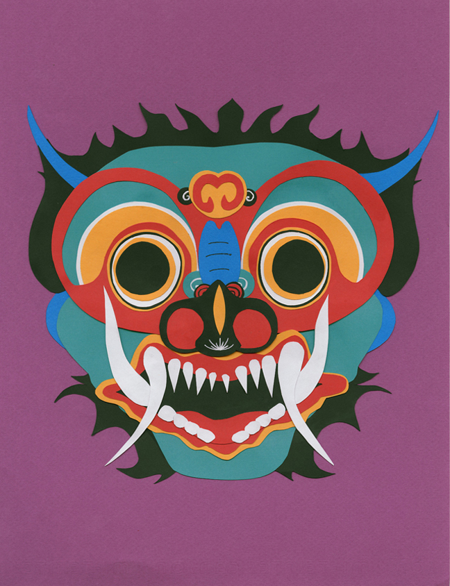 Allison Welter  •  Hindu Demon Mask , cut paper, 2013, $20 unframed print