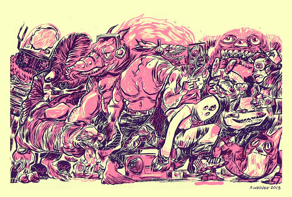 Kelsey Wroten,  Monster Mosh , 2013