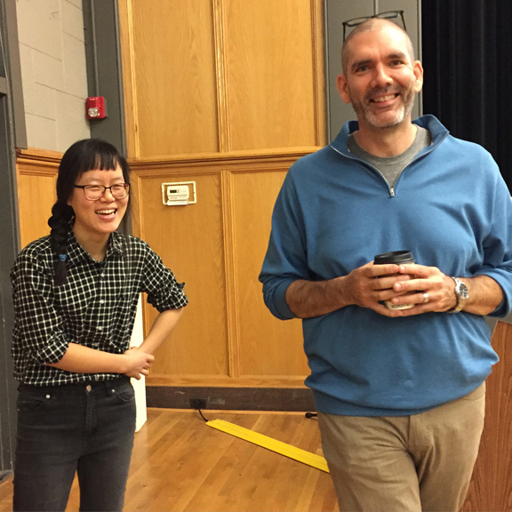 Visiting Artist JooHee Yoon with Assistant Professor David Terrill