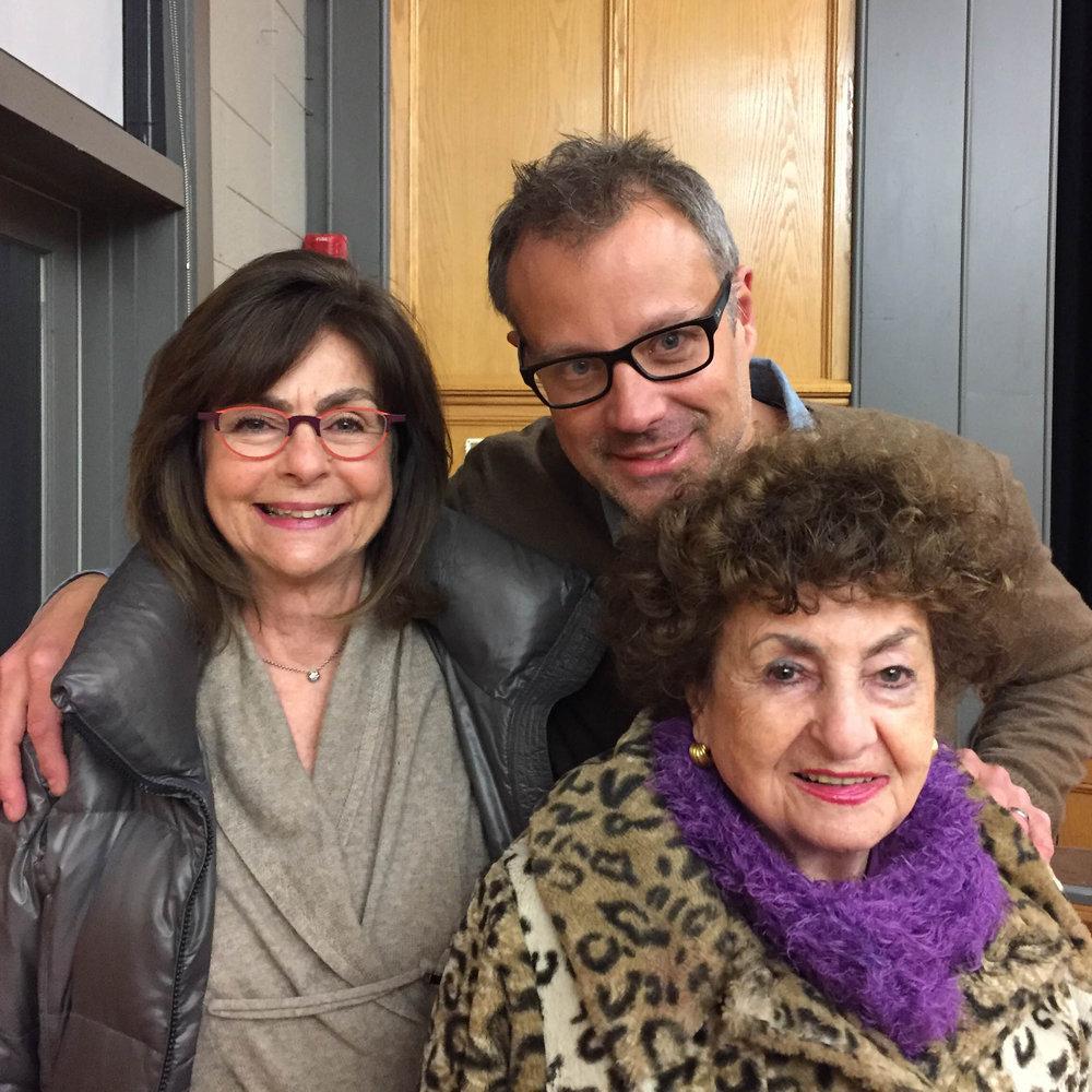 Sonia Warshawski, her daughter Regina Kort and Assistant Professor John Ferry