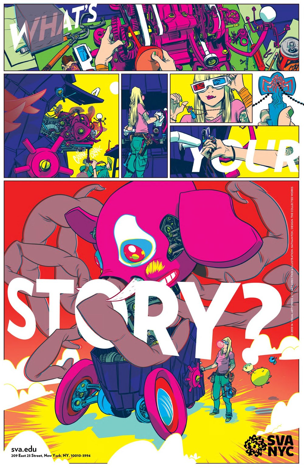 Nathan Fox / Subway poster for SVA