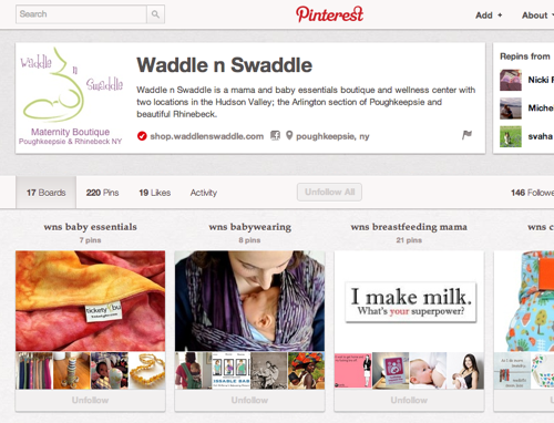 screenshot of WnS Pinterest Page