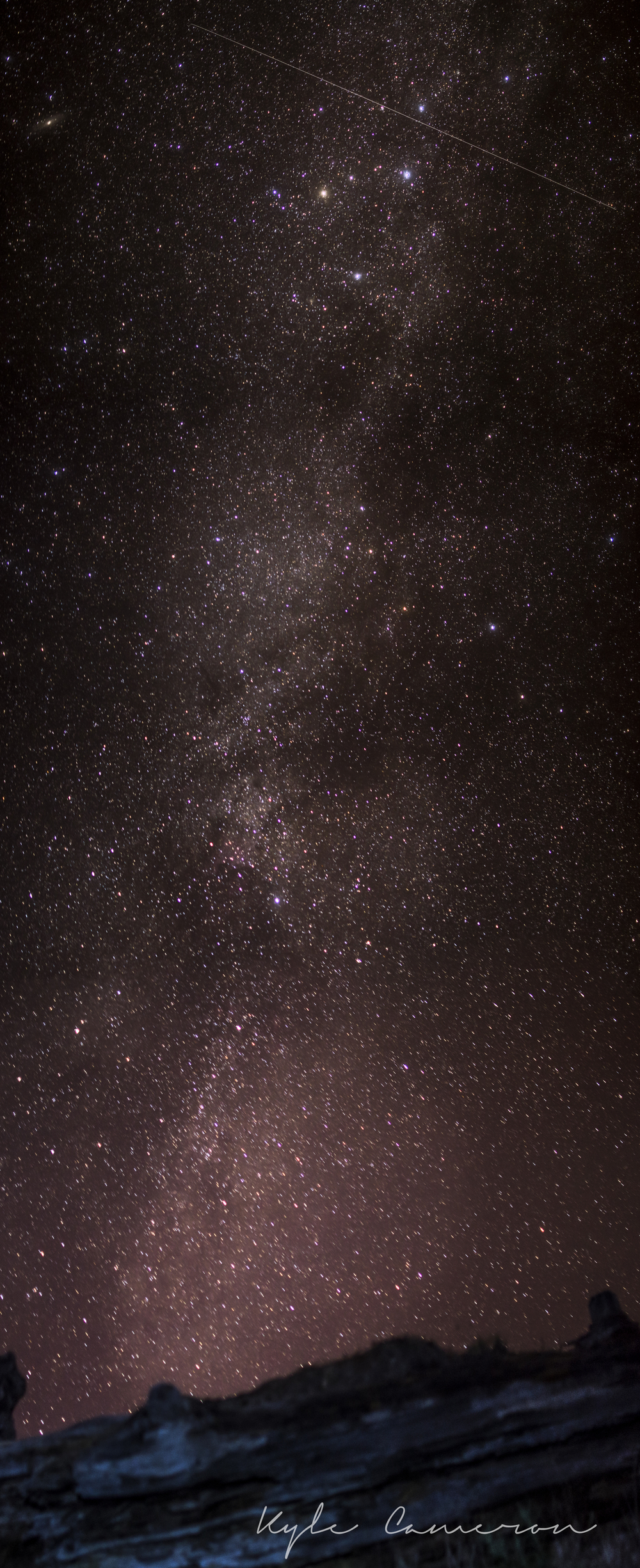 I know this isn't even a great shot of the Milky Way or anything, but I don't care. I'm so excited that I finally got something that turned out.