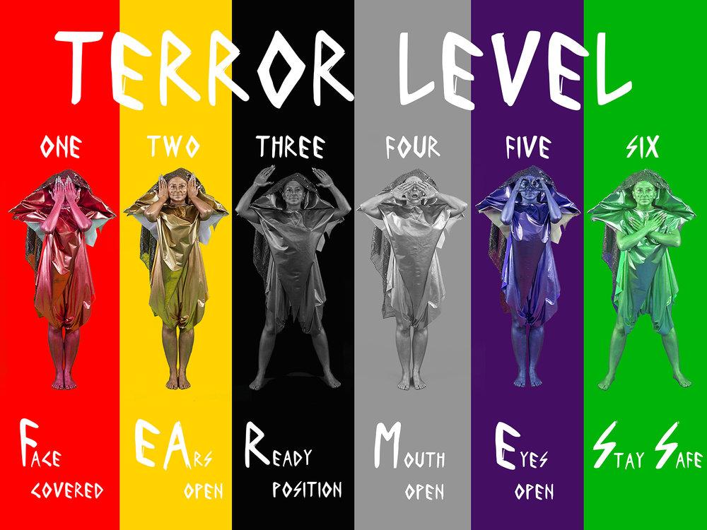 "The Myth of Layla: FEARMESS: Terror Alerts  , 2016, Digital C Print, 30""x20"""