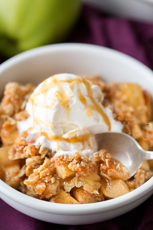 Drunken apples and vanilla bean ice cream.jpg