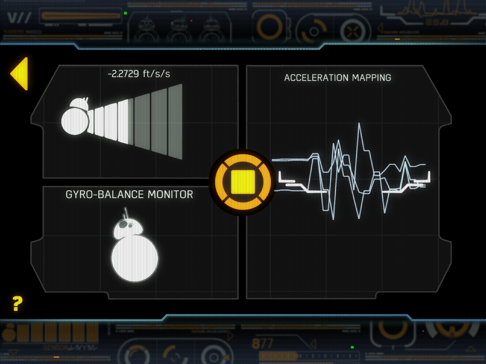 "Figure 1-1: A screenshot from the BB-8 smartphone application. The device is in ""patrol"" mode where it acts autonomously."