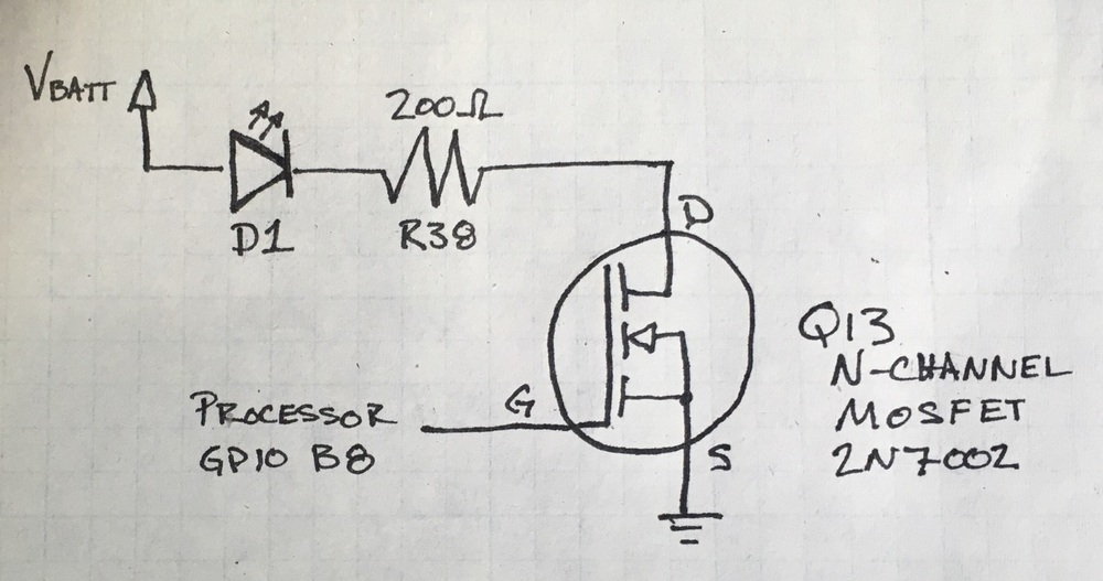 Figure 2-5: Quick sketch of the schematic for BB-8's taillight.