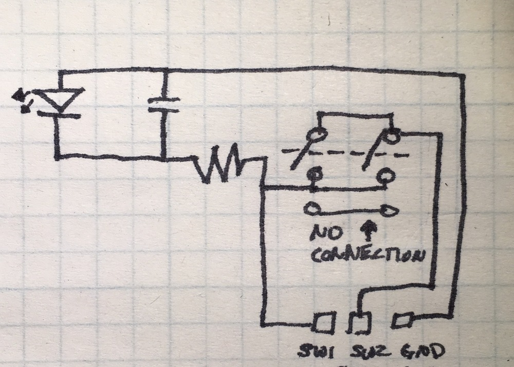 Figure 3-3: Karaoke power button schematic