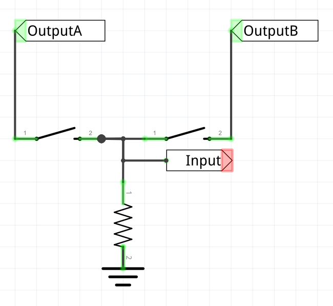 Figure 3-7: One input to read two switches