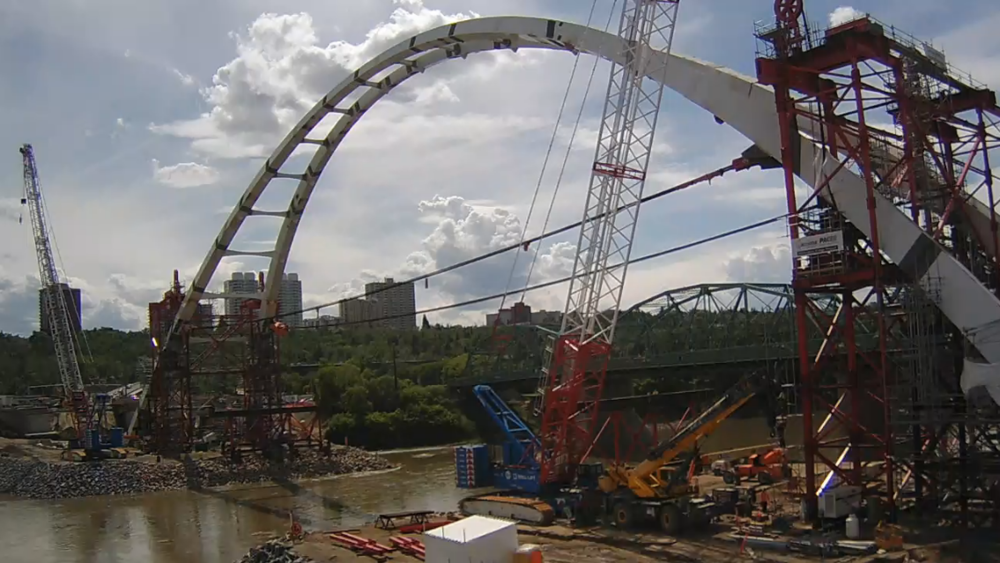 Edmonton's (real soon now) new Walterdale bridge.