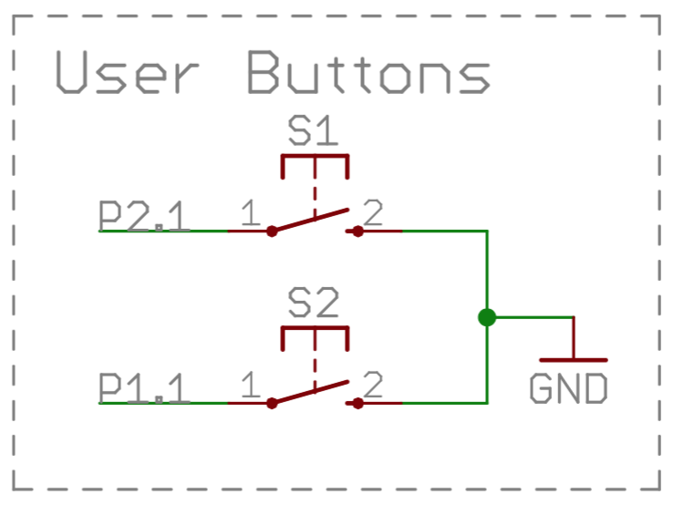 ese101 schematics, buttons, and pullups \u2014 embeddeds2 is a push button switch when the button is not pushed, the switch is open and the two contacts in the switch are not connected