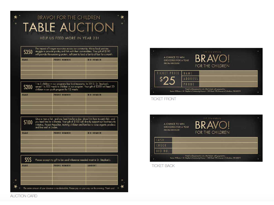 Silent Auction Form & Tickets