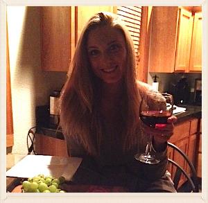 "Me enjoying my wine before this ""Wedding Shape Up"" started."