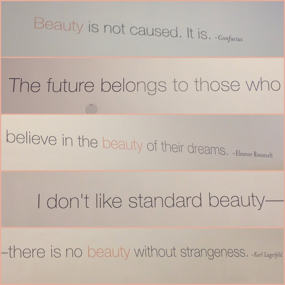 Quotes on the wall at Beauty Company SF