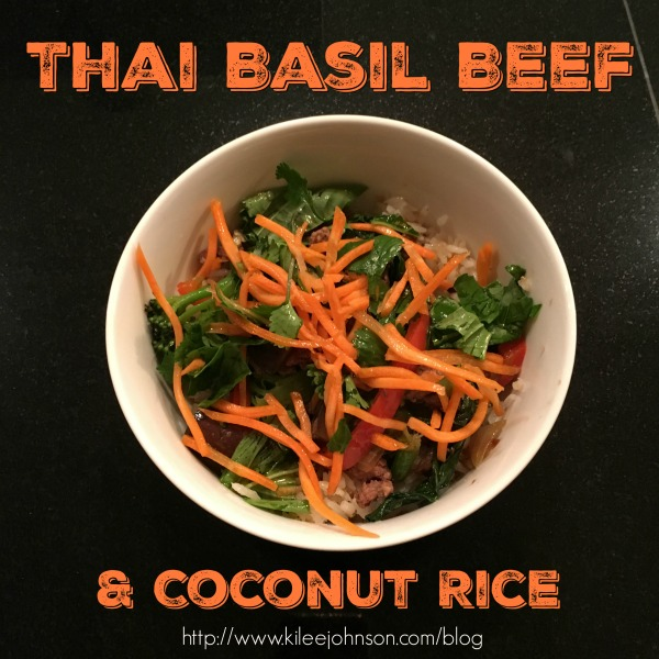 Thai Basil Beef With Coconut Rice Recipe