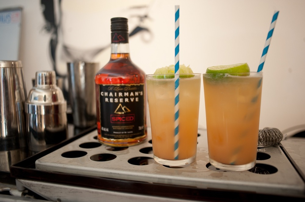 Tasty Dark and Stormy's using a combination of native and organic Ginger