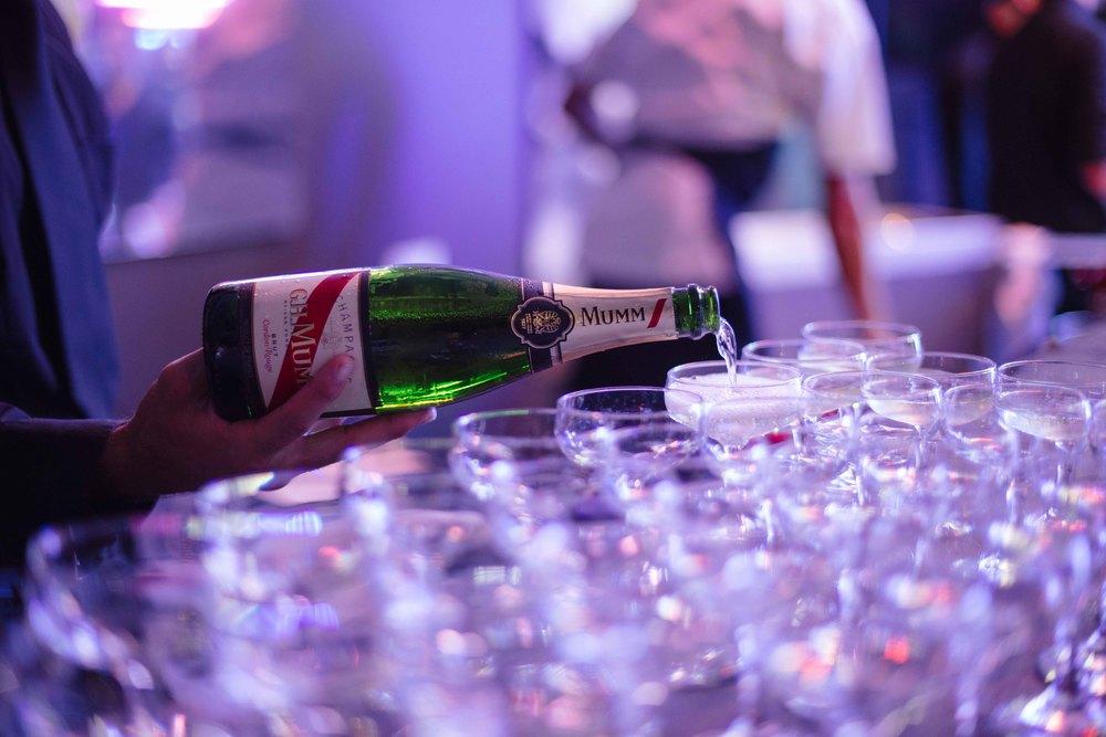 Champagne glass hire