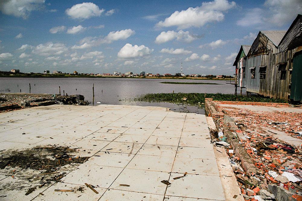 The edge of Phnom Penh's Boeung Kak lake in 2011.
