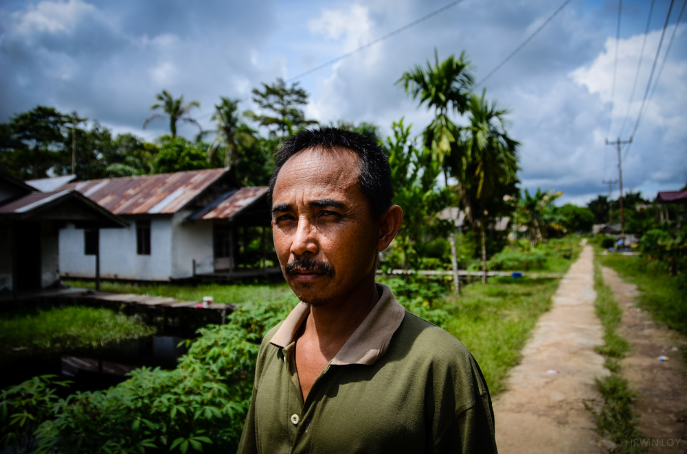 Adrianus Adam Tekot is a Dayak community leader who lives in a village outside Pontianak, in West Kalimantan.
