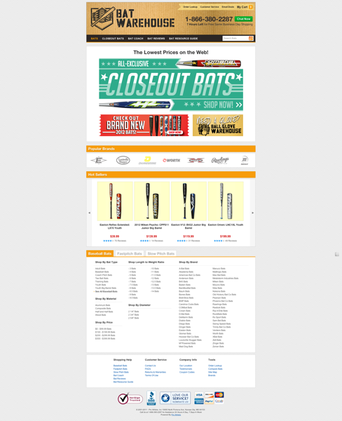 Batwarehouse  Baseball   Softball Bats Of All Varieties  Bat Resources  Bat Catalog  Plus More
