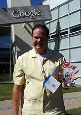 Your's truly at the GooglePlex for a Think Shopper event in 2012.  Yes, I've seen the yellow, green, blue, and red bikes all over campus.  There must be hundreds of them.