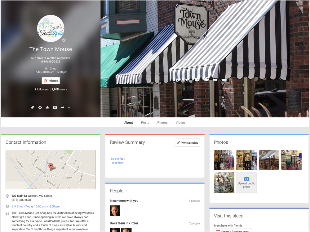 Google  Plus Local Page  With Customer URL