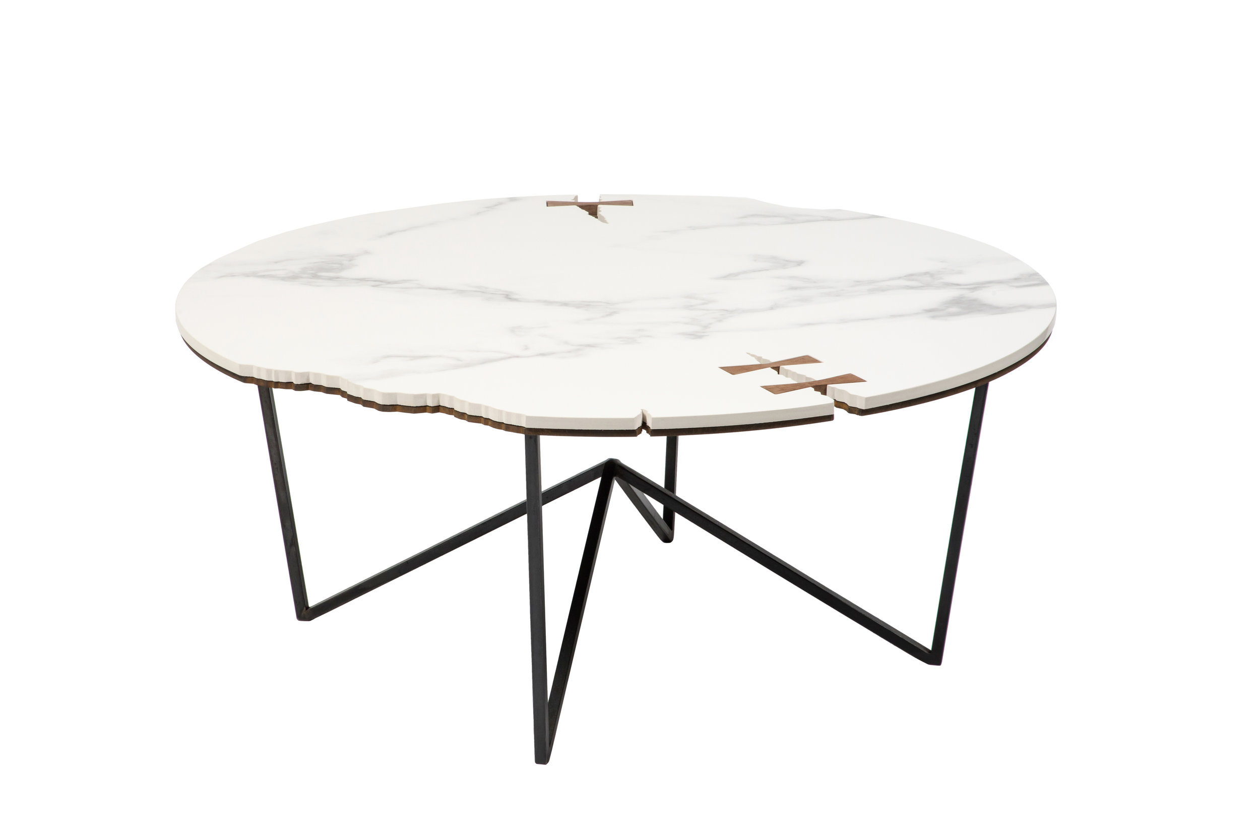 Stone Forest Circle Coffee Table Ethan Abramson