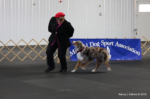 Barbara and 5-year-old Dawson performing his first freestyle routine.